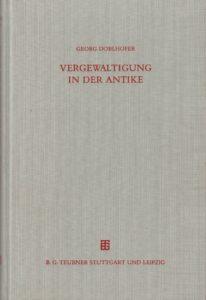 """Fotografie des Buchcovers von """"Vergewaltigung in der Antike"""""""