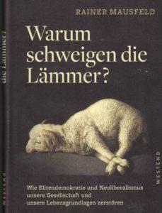 Fotografie von Buchcover: Warum schweigfen die Lämmer? (Rainer Mausfeld, 2018)